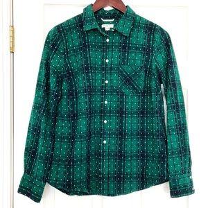 {Merona} Plaid & Polka Dot Button Down Shirt